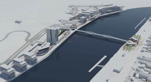 Illustration of Potential Scale of Proposed North Quays Development